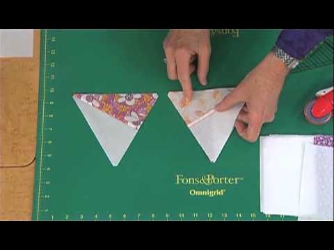 How to Cut Pre-Pieced 60 Degree Triangles from Strip Sets | Quilty ... : 60 degree triangle quilting ruler - Adamdwight.com