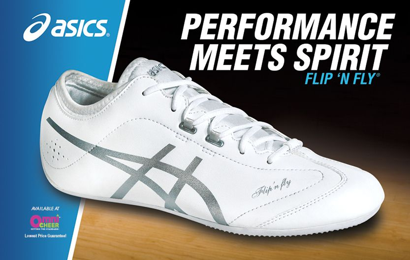 We carry the newest Asics cheerleading shoes, including the Flip 'n Fly!