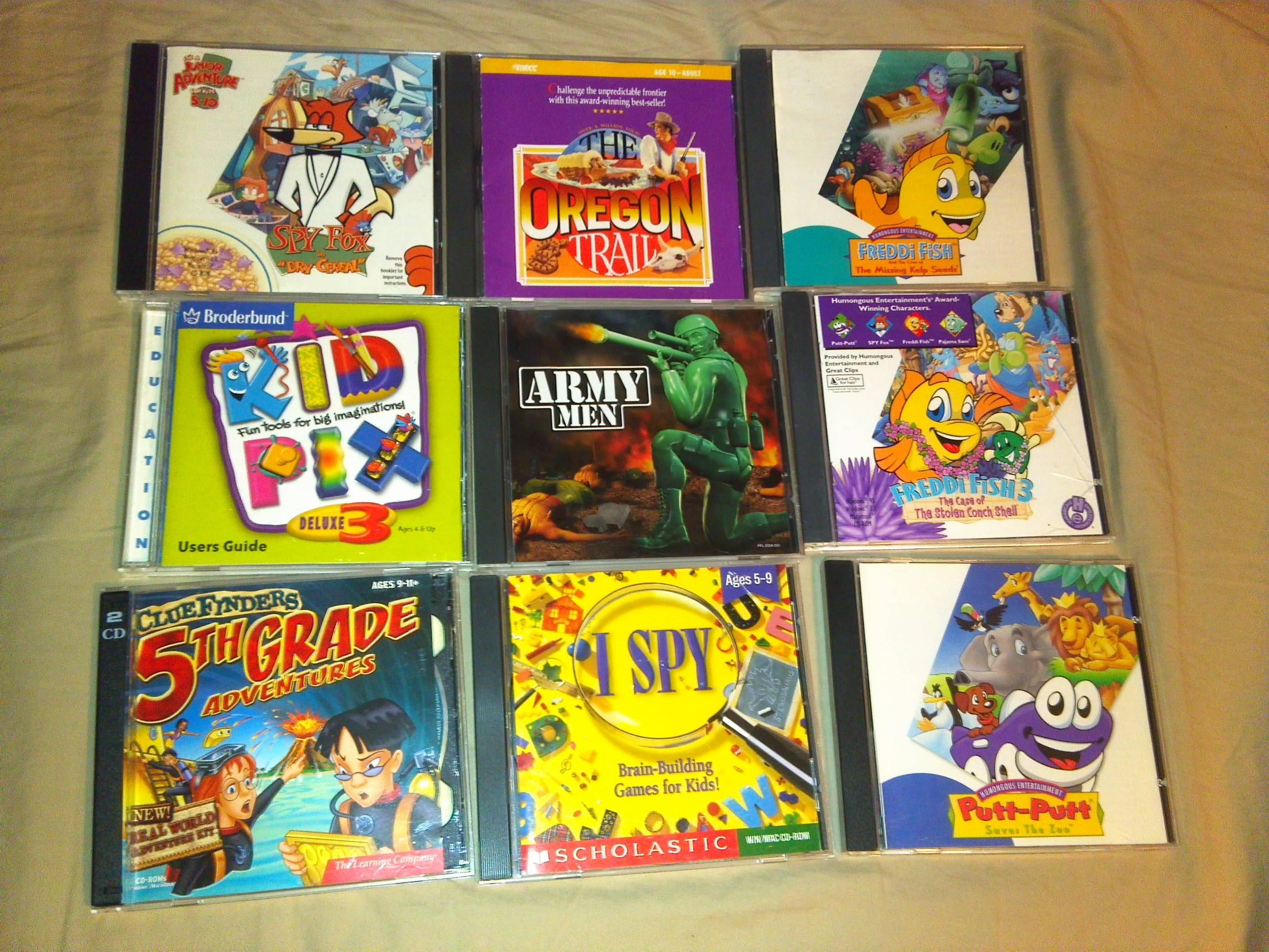 Who remembers having to use CDs to play Freddi Fish, Spy