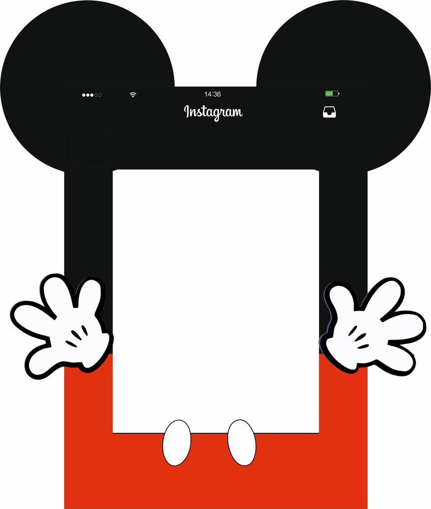 Personalised Cartoon Character Party Photo Frame Party Booth Prop A1 ...