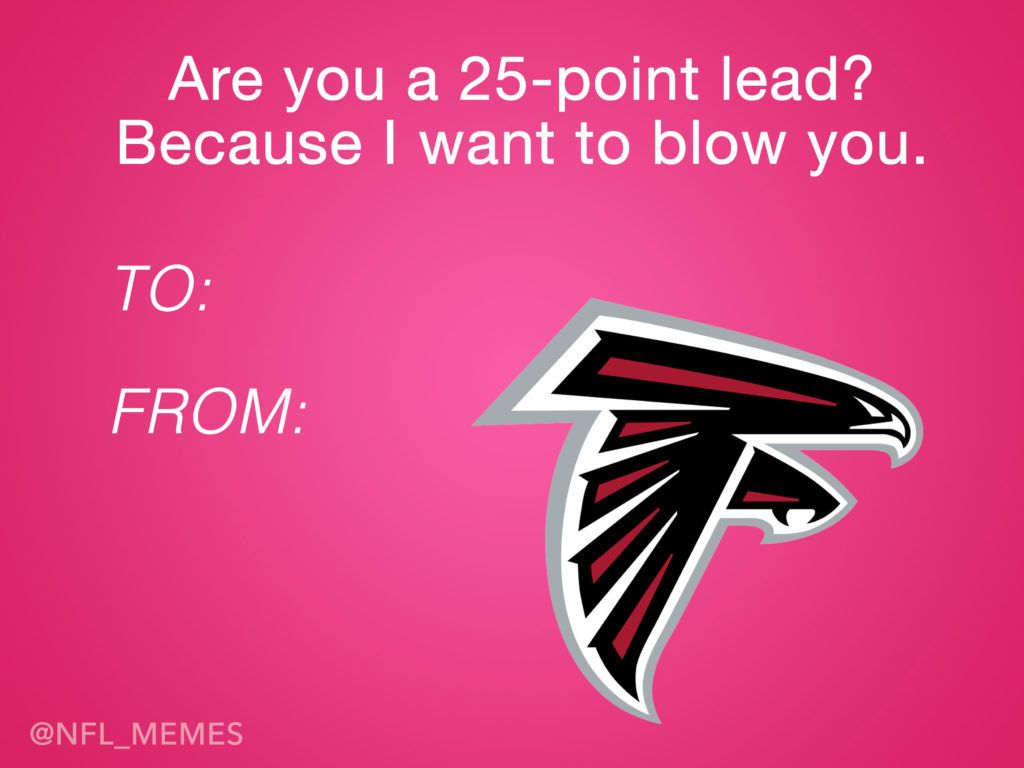 Falcons Funny Valentines Cards Valentines Memes Valentines Day Memes