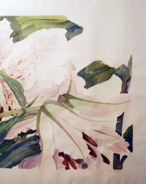 "Watercolor ""Tiger Lilies"" by Gary Bukovnik"