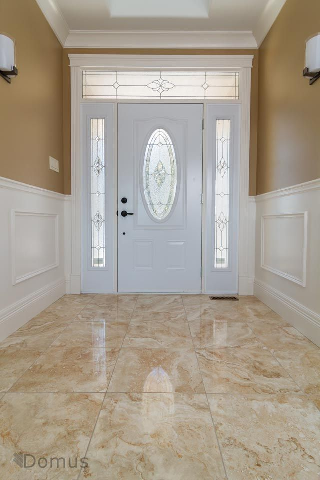 Glossy Tile Flooring At Home S Main Entrance Tile Design