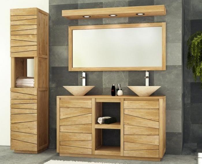Meuble salle de bain Belair L140 en teck Bathroom Pinterest