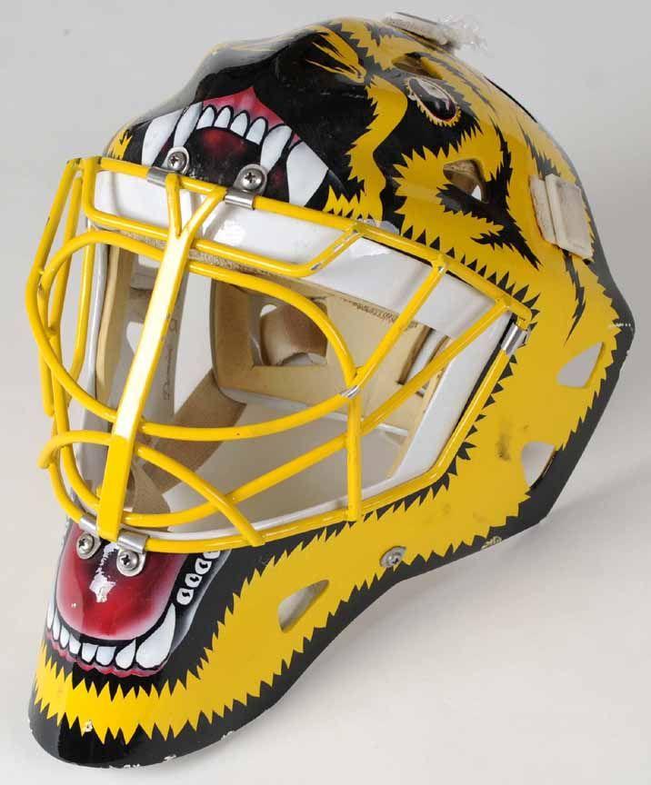 Early 1990 39 S Andy Moog Boston Bruins Goalie Mask Gamewornauctions Net Goalie Mask Boston Bruins Goalies Goalie