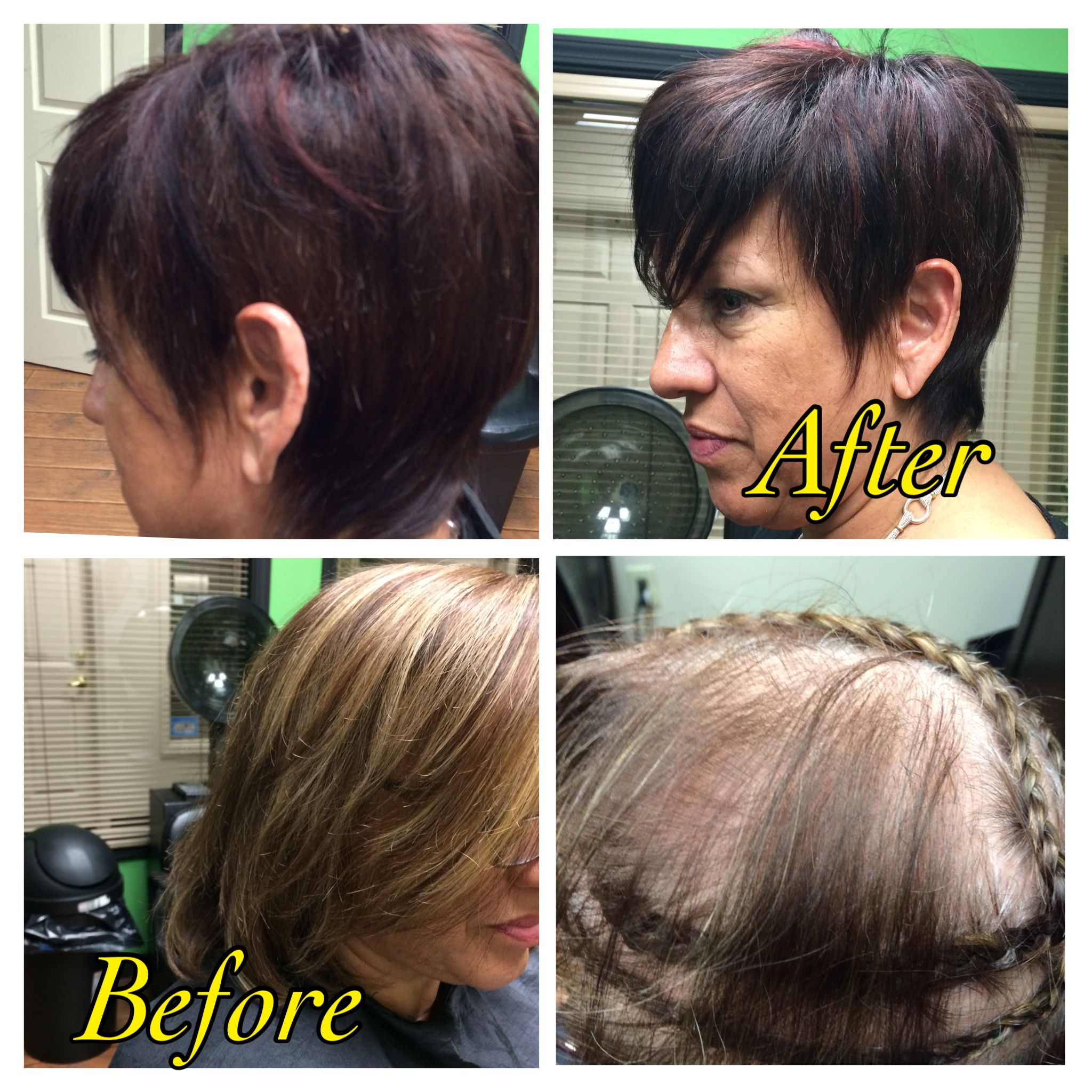 Hair Extensions Installed To Create This Short Pixie Cut Short N