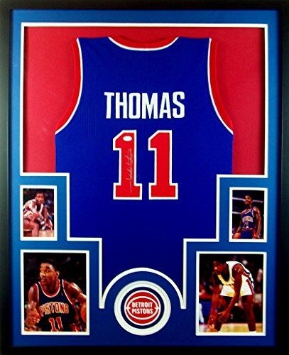 7a4f1ed91 Isiah Thomas Framed Jersey Signed JSA COA Autographed Detriot Pistons  Mister Mancave http