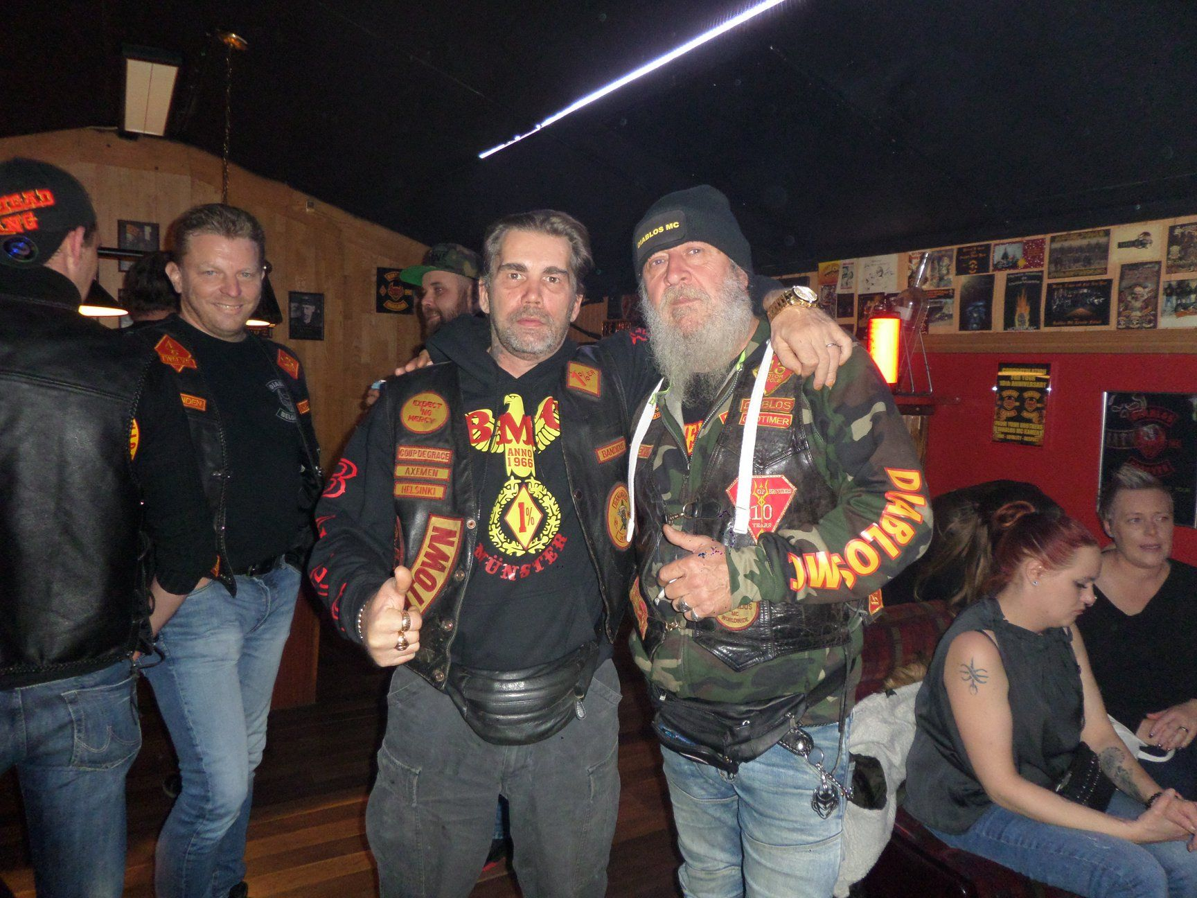 On the left Kai Tapio Blom, last of the Axemen - founder members of