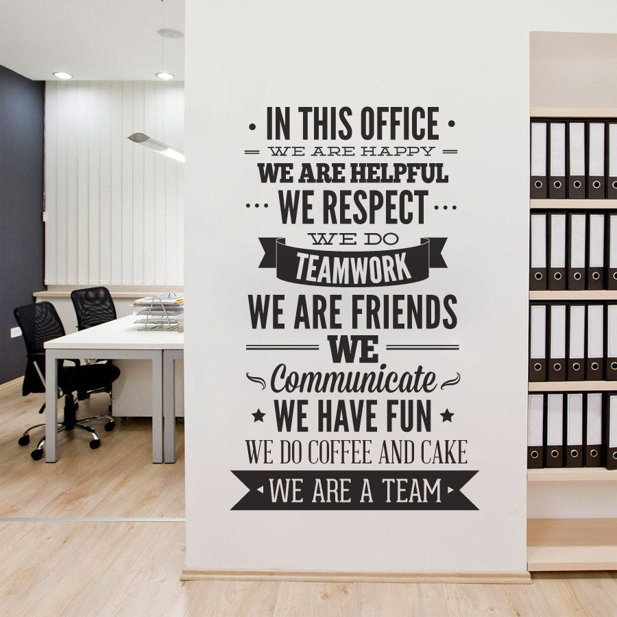 Decor office ideas Pinterest Office Decor Typography In This Office By Homeartstickers On Etsy Pinterest Office Decor Typography Wall Art Sticker In This Office For Walls