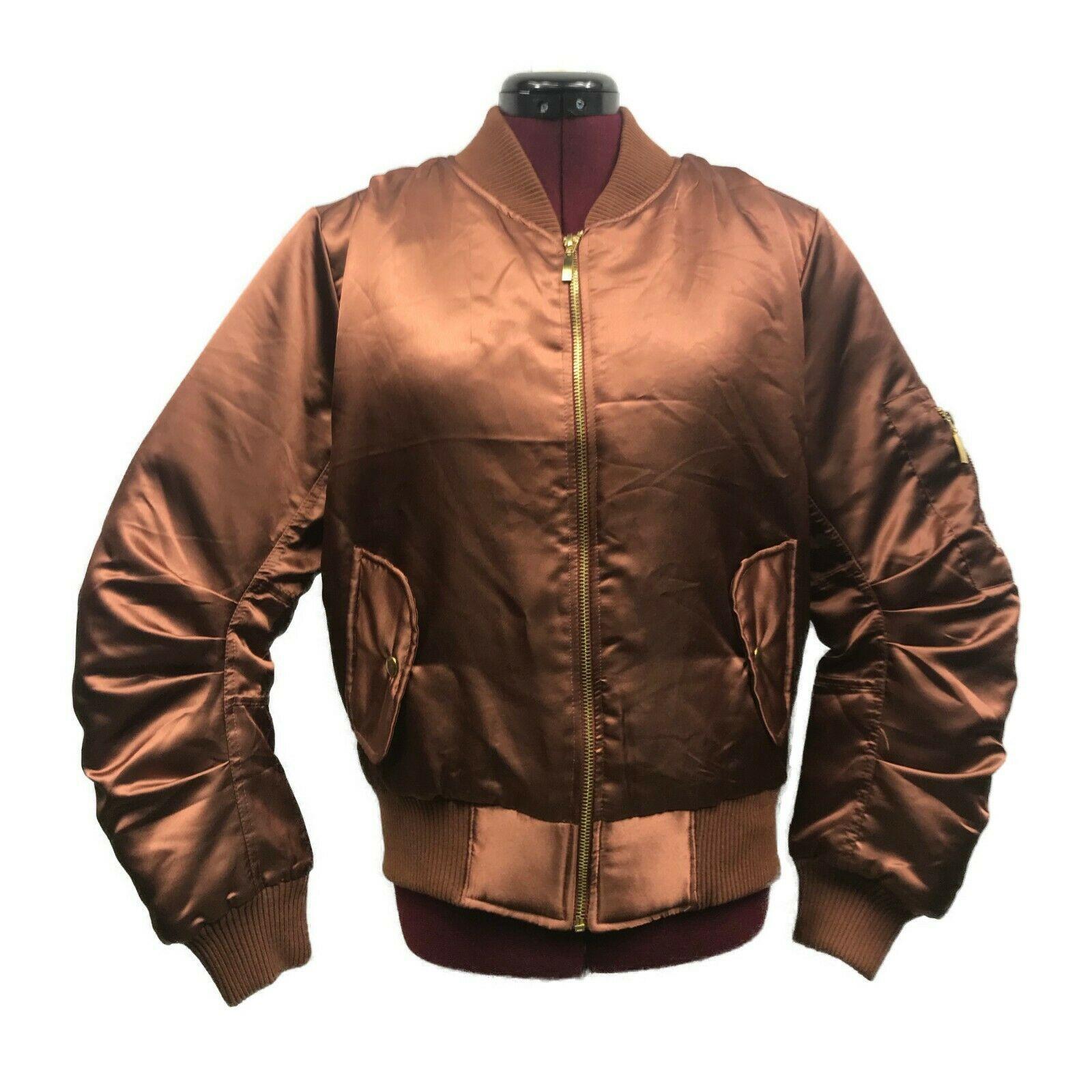 My Ebay Active In 2020 Satin Bomber Jacket Bronze Bomber Bomber Jacket [ 1600 x 1600 Pixel ]