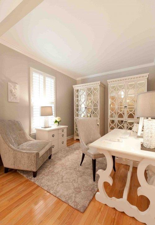 Charmant Desk + Cabinets + White U003d Glamorous Office! Via Houzz