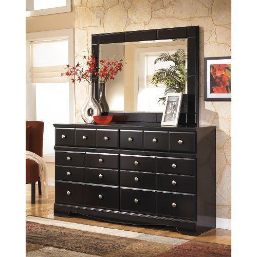 B271 31DRESSER Shay Black Contemporary Dresser