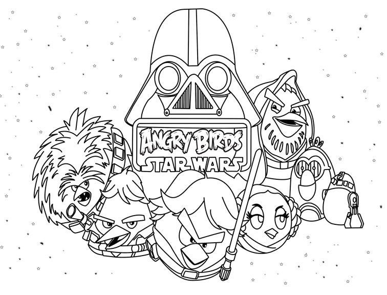 Angry Birds Star Wars Coloring Pages | Angry birds | Pinterest