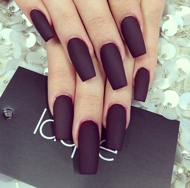 Matte black nails | Nailed it! | Pinterest | Diseños de arte en uñas ...