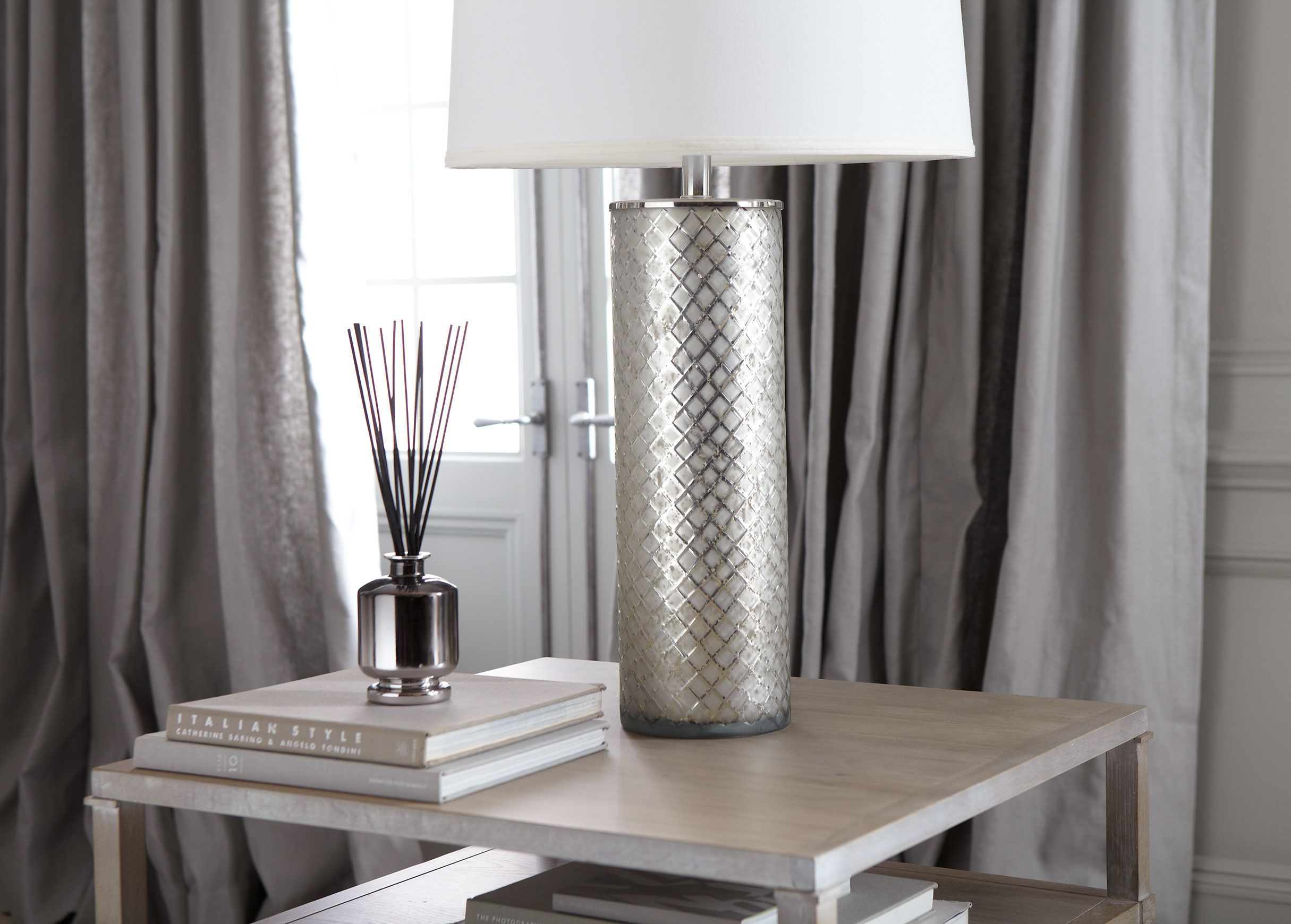 Lattice Glass Table Lamp Table lamp, Lighting, Glass