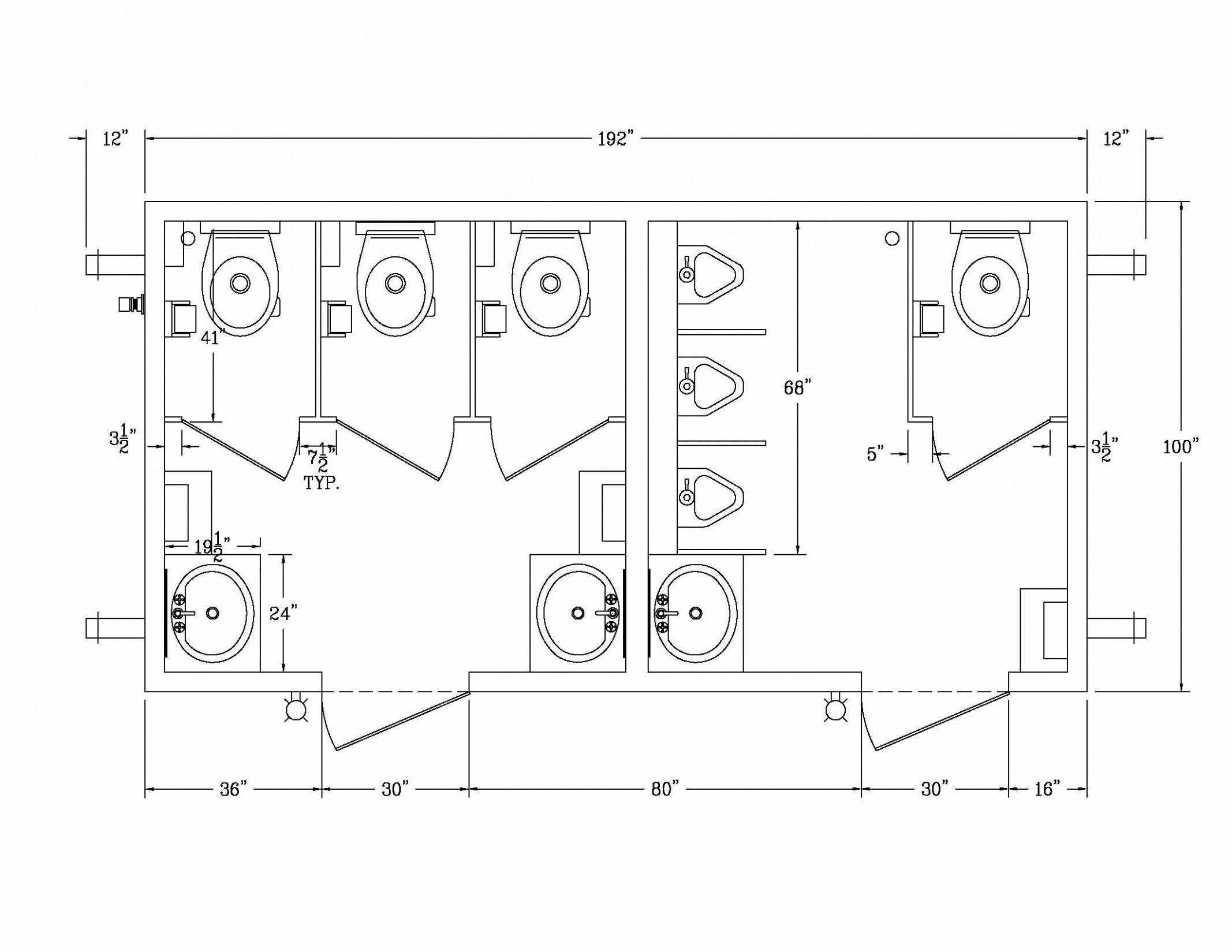 Ada Bathroom Floor Plans Elegant Dimensions Ada Bathroom