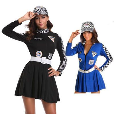 Smart Sexy Car Racing Costume Women Long Sleeve Sexy Racing Girl Uniform Adult Car Model Cosplay Women Cheerleaders Dress Women's Costumes Back To Search Resultsnovelty & Special Use