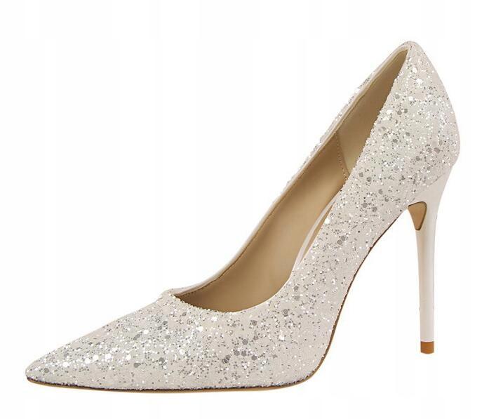 Czolenka Na Szpilce Brokatowe Alladies As7143 8422752344 Oficjalne Archiwum Allegro Wedding High Heels Fashion High Heels Pointed Toe Shoes