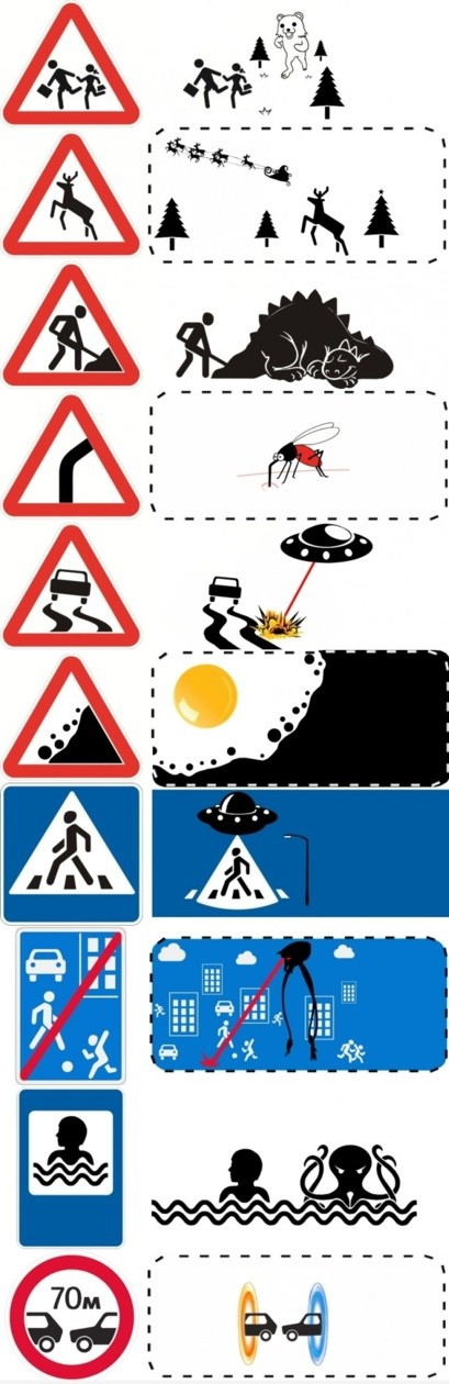 the true meaning of roadsigns OR the dangers of removing context