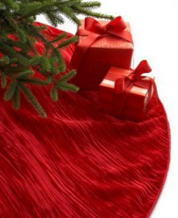 Velvet Crease Christmas Tree Skirt
