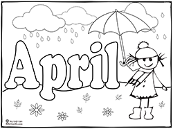 april showers coloring pages Months of the year coloring pages | Education: Pre School  april showers coloring pages