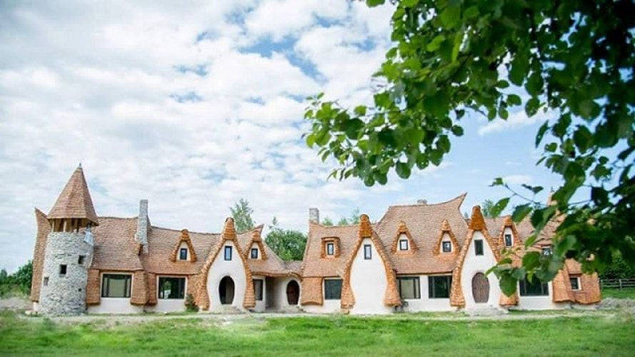 The hotel's owners, Razvan and Gabriela Vasile, sold their home in Romania's capital city of Bucharest in order to bring this clay fairytale castle into reality. The Valley of the Fairies, situated near the tiny village of Porumbacu De Sus, is 24 miles from the city of Sibiu.