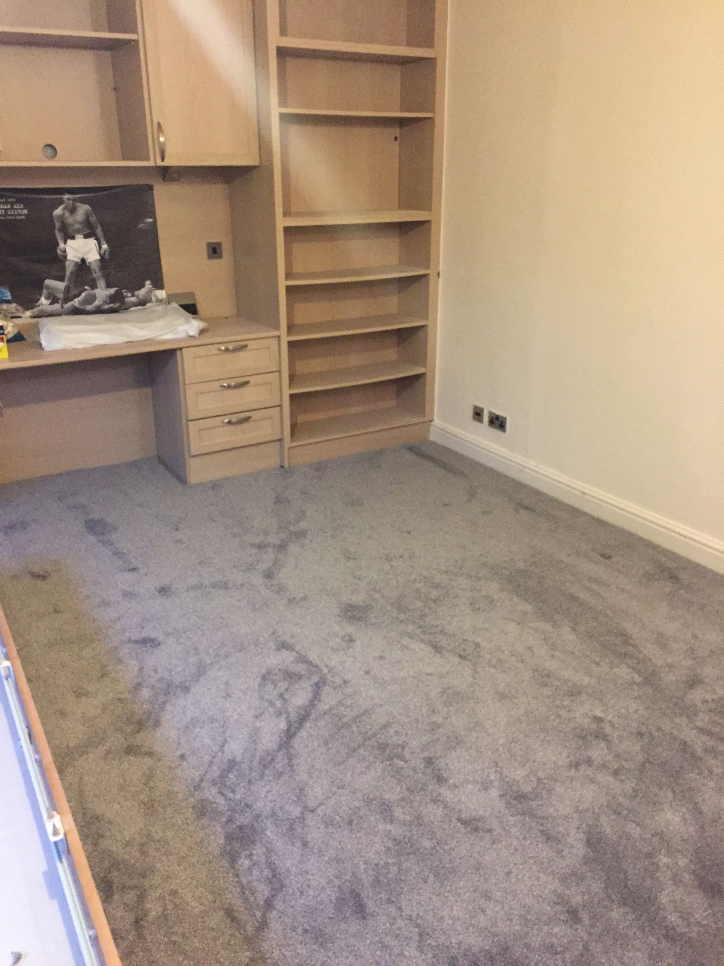 Grey bedroom carpet fitted in Davenport, Stockport