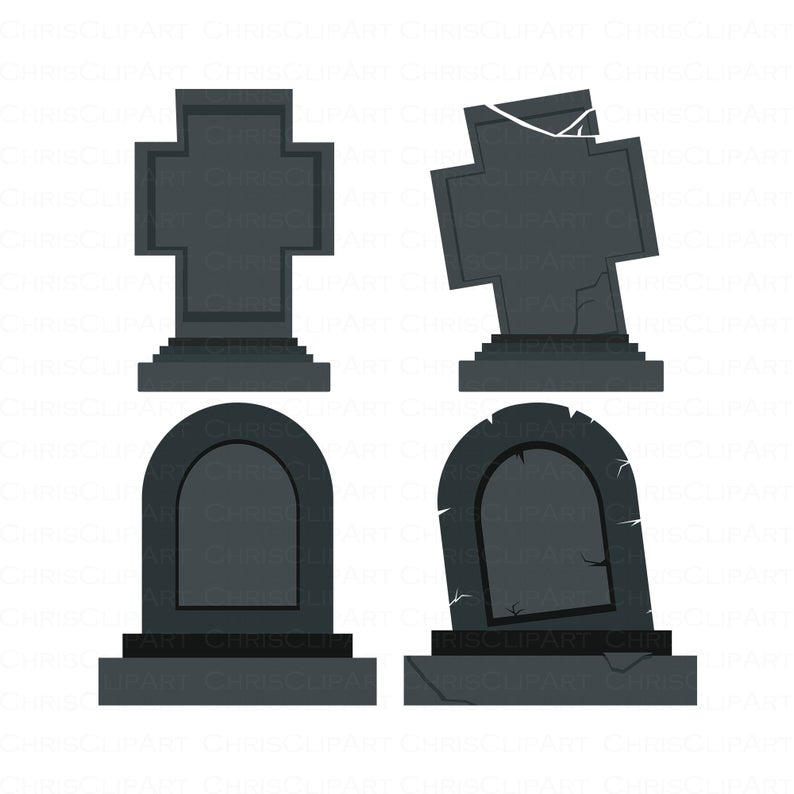 Tombstone Svg Bundle Blank Tombstone Png Headstone Clipart Etsy In 2021 Tombstone Clip Art Headstones