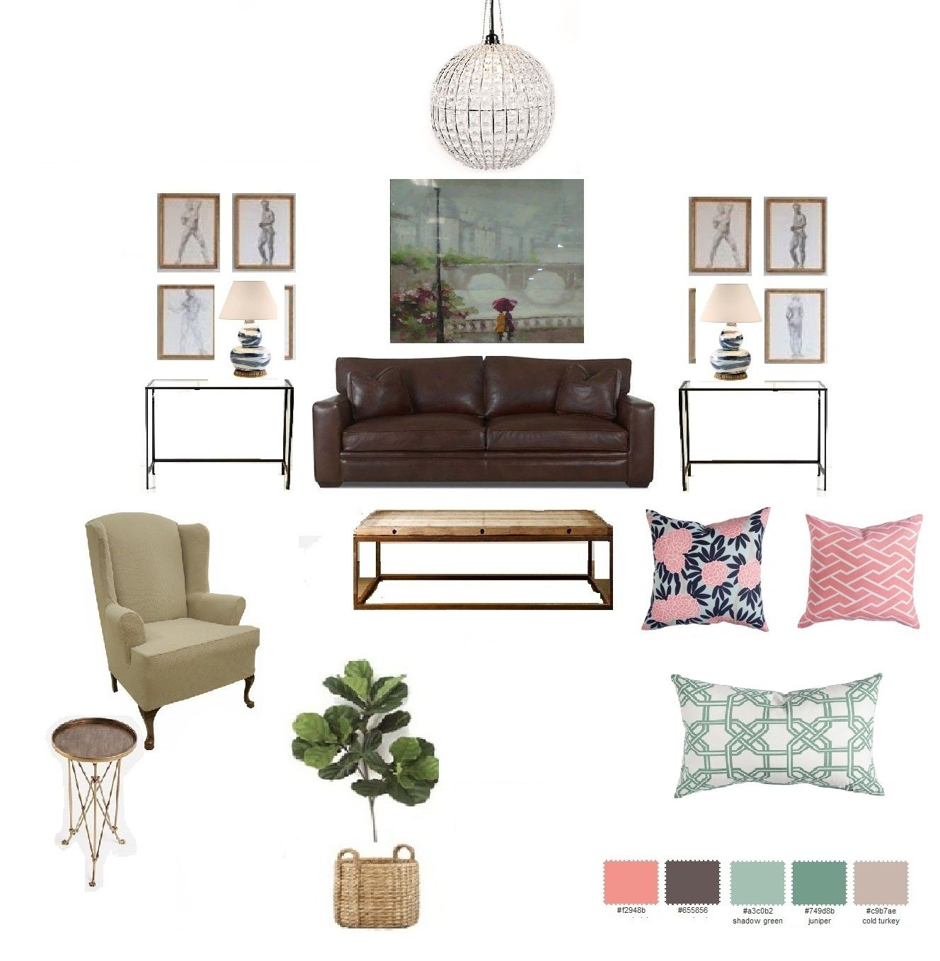 design board for my living room, inspired in french/industrial style ...