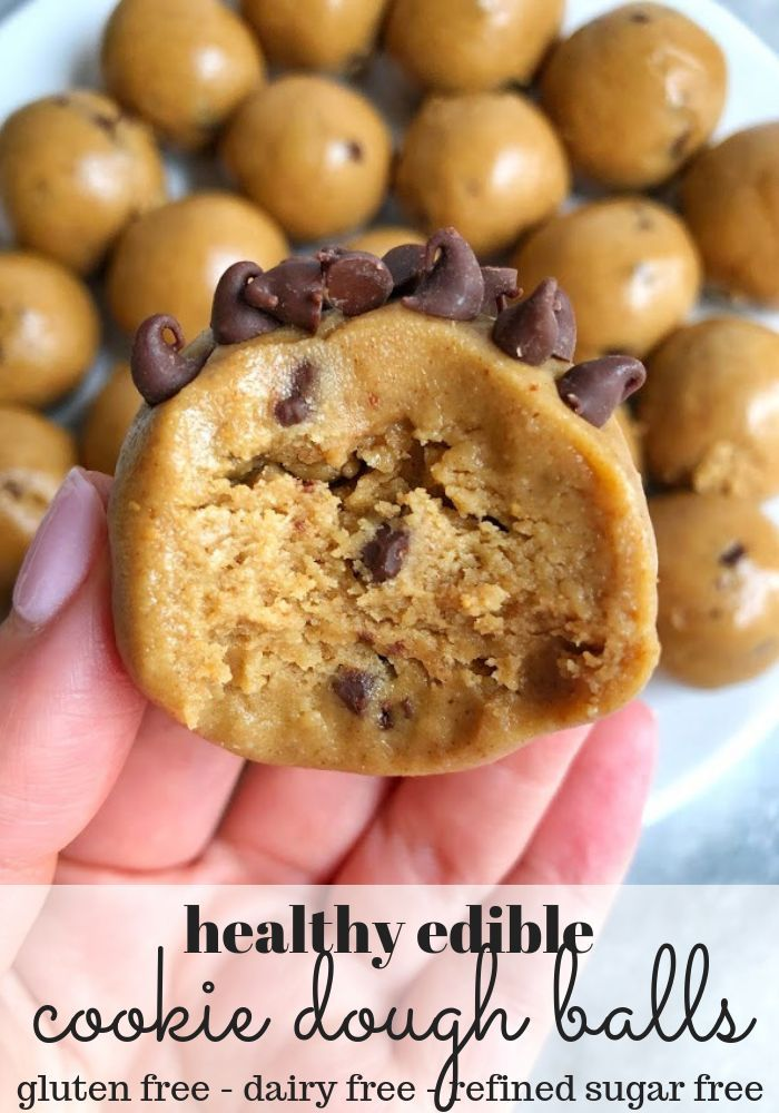 Healthy Cookie Dough Balls | Erin Lives Whole