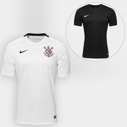 NETSHOES + KMVantagens  Kit Nova Camisa Corinthians + Camisa Nike + item    R  211 8cdb107fc55d7