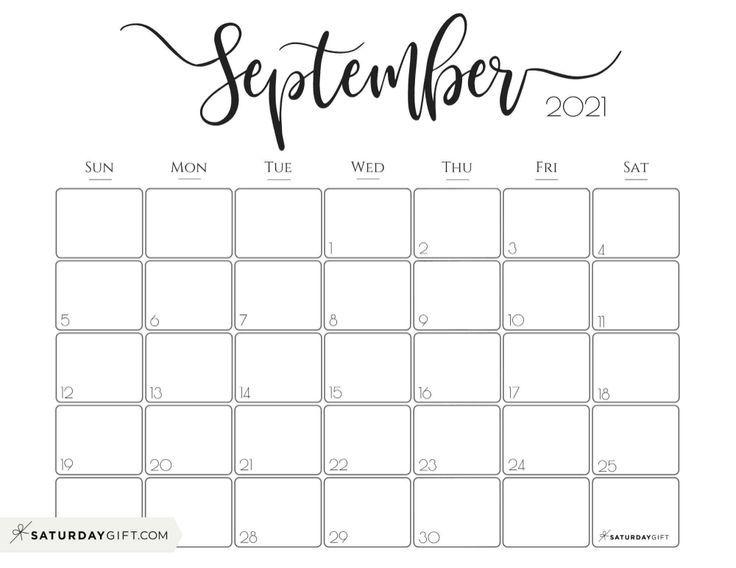 Elegant 2021 Calendar - Pretty Printable Monthly Calendars ...