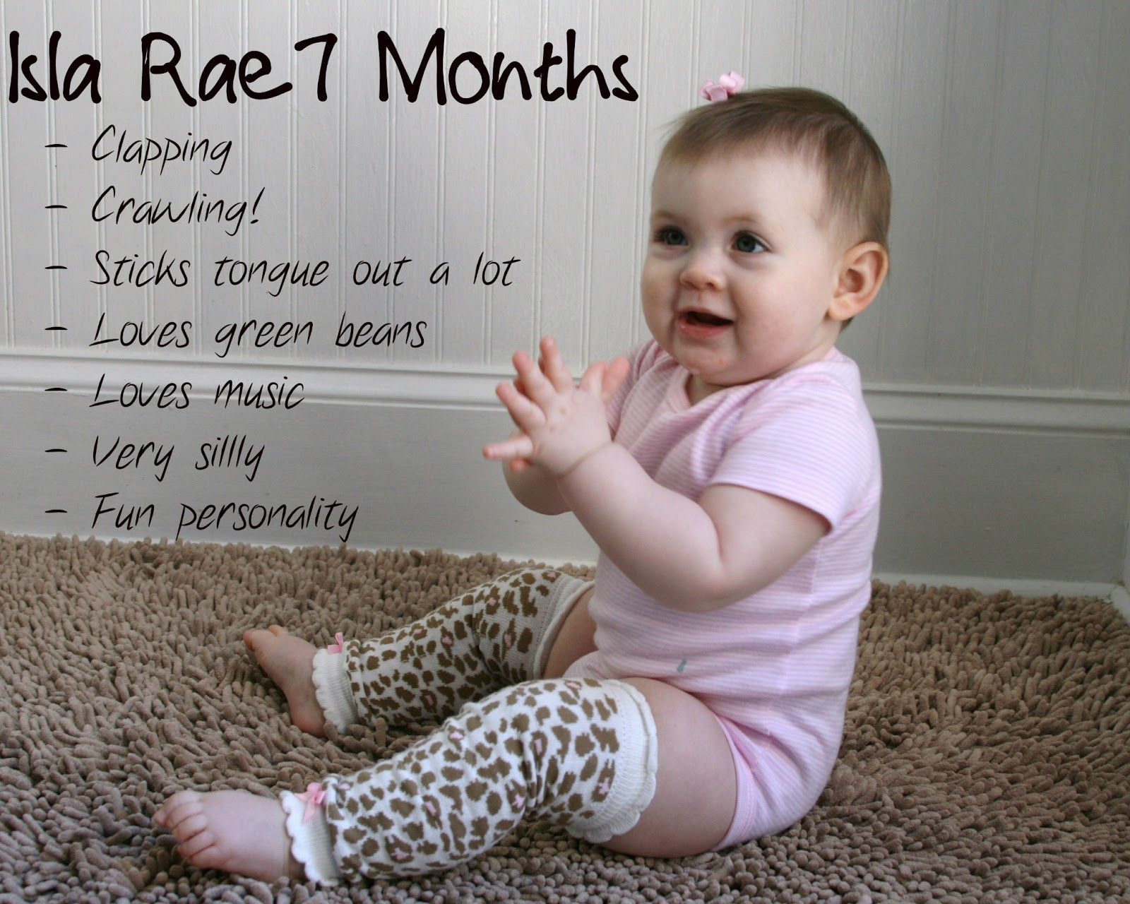 What can a child of 7 months 4