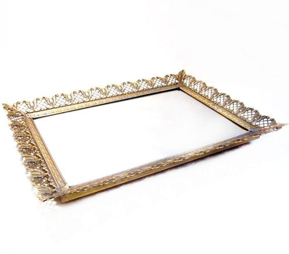 Mirror trays in centerpieces, and on dessert tables | Small Details |  Pinterest | Mirror - Antique Mirror Tray Vanity Antique Furniture