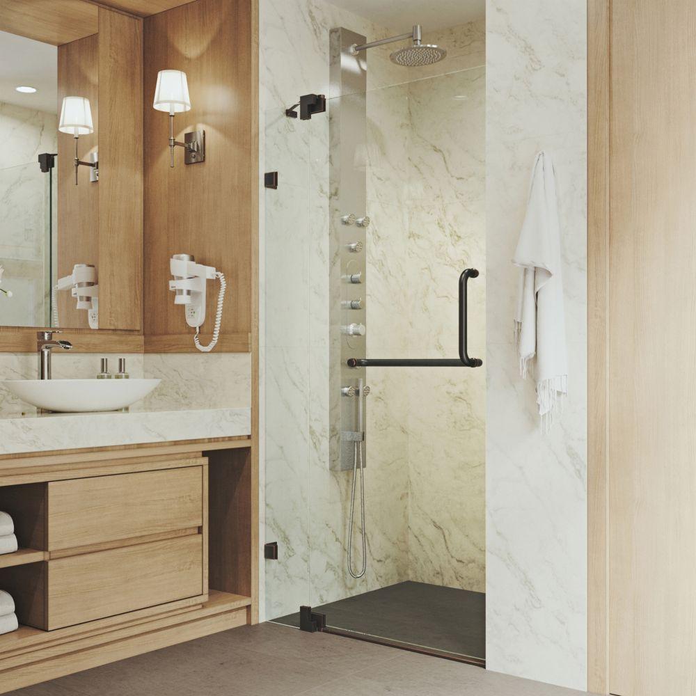 Pirouette 36 To 42 Inch X 72 Inch Frameless Pivot Shower Door In