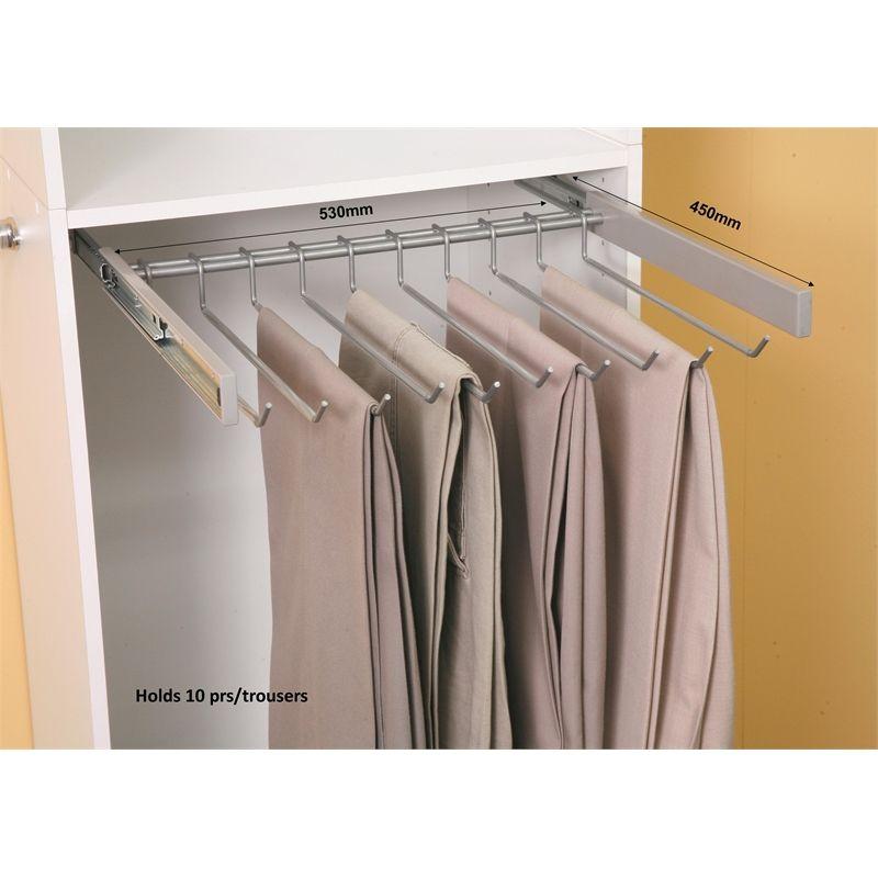 Multi Store Full Extention Wardrobe Undermount Trouser Rack I N 2580510 Bunnings Warehouse Wardrobe Multi Rack