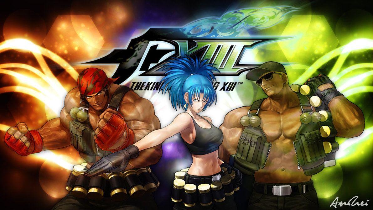Kof Clark Dibujo Deviantart: KOF XIII: Ikari Warriors Team By AioriAndrei On DeviantArt