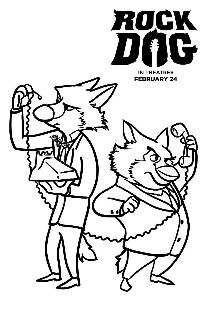 Superb Dogs Coloring Pages 76 Free Rock Dog Coloring