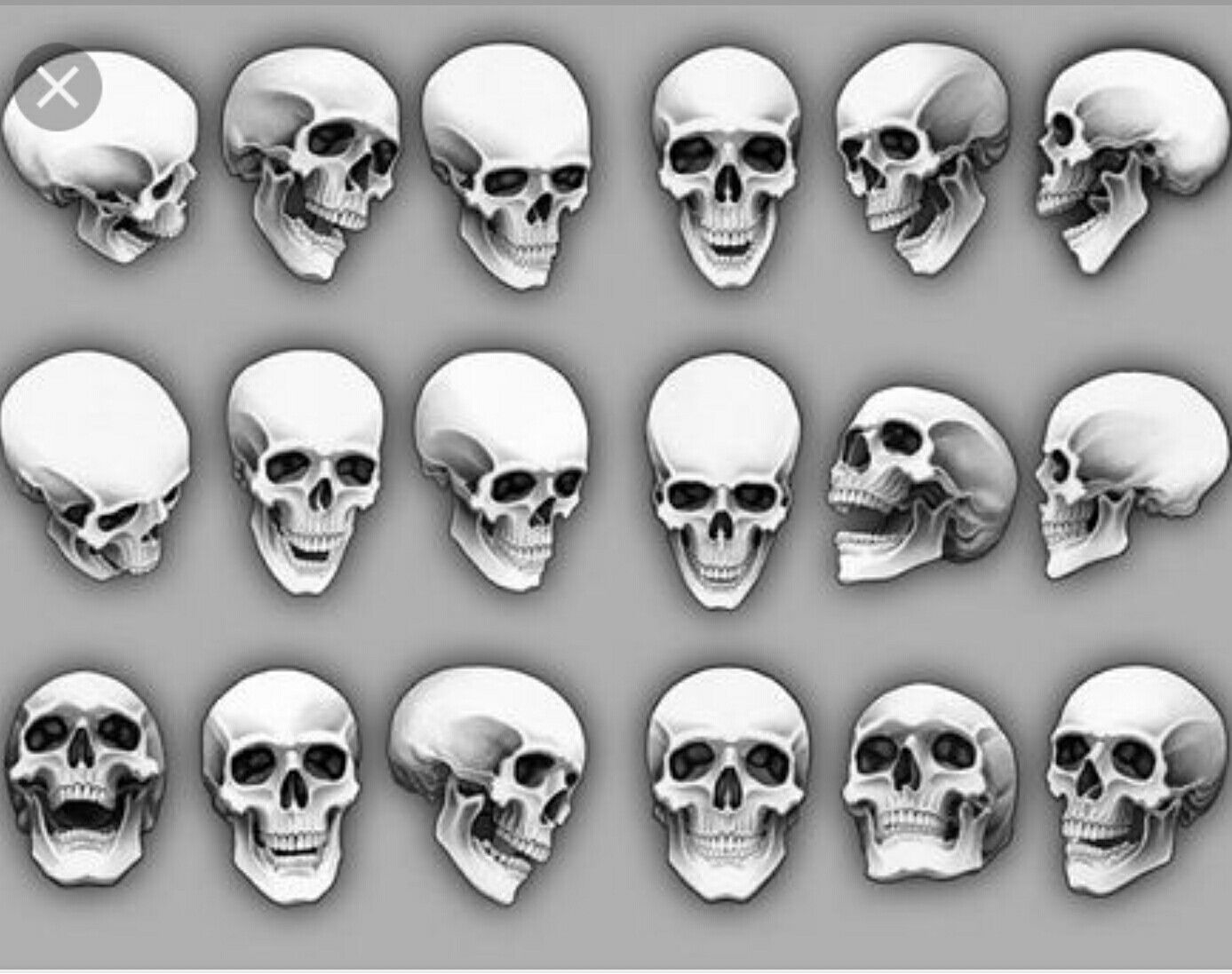 How To Draw A Skull From An Angle