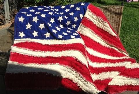 e1cf30965590 American Flag Rag Quilt Made to Order by SewJoyfulDesigns on Etsy ...