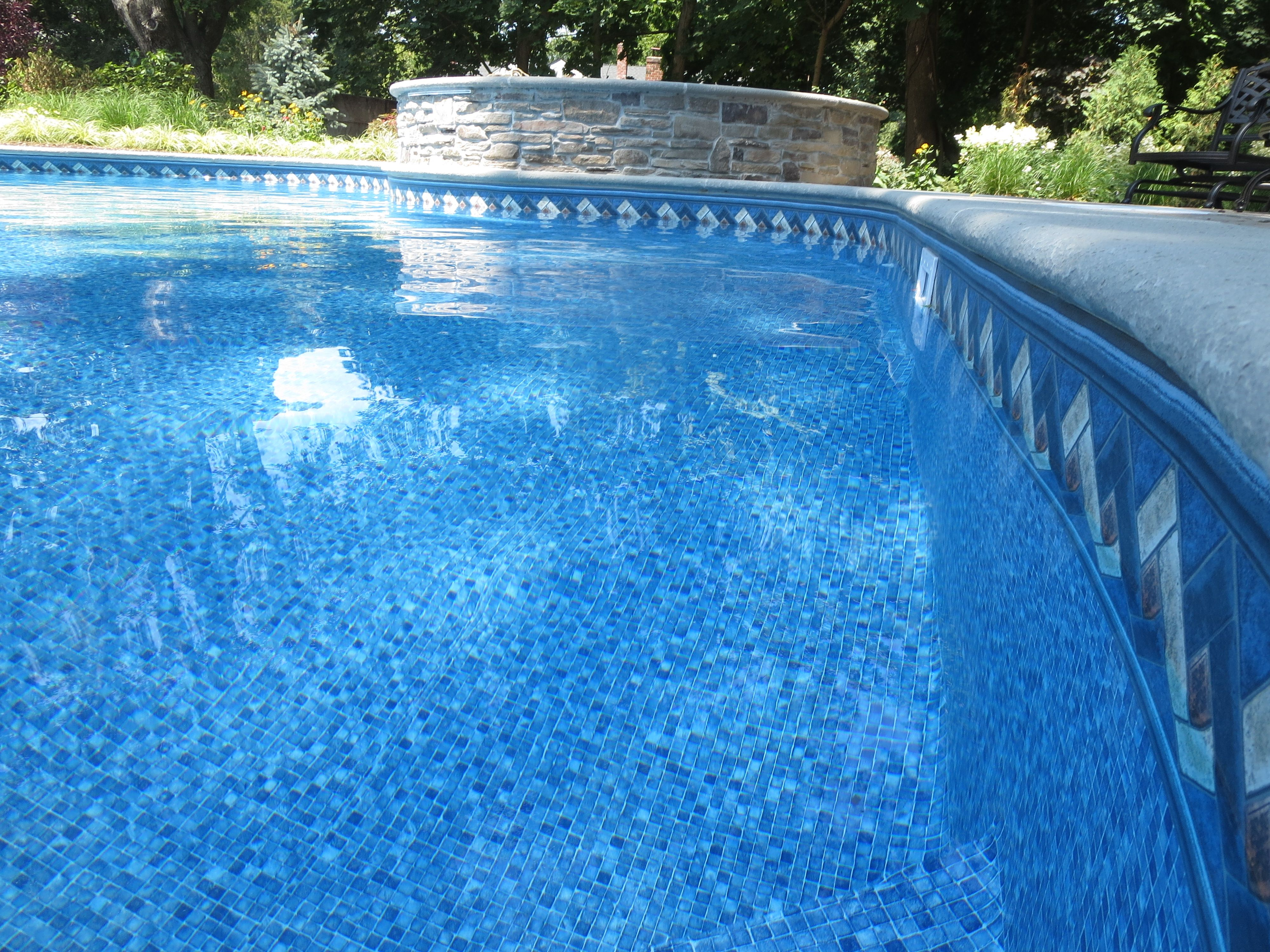 Pin by pool liner factory outlet on pool liner mountain for Blue pond liner
