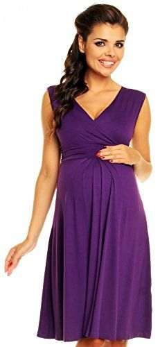 Zeta Ville Women's Maternity Breastfeeding Flattering Summer Skater Dress 256c (Purple, 6) Zeta Ville http://www.amazon.com/dp/B00SRJ457U/ref=cm_sw_r_pi_dp_DJFkvb16MA876