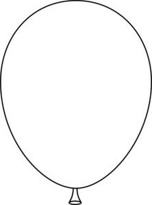 25++ Balloon outline clipart black and white info