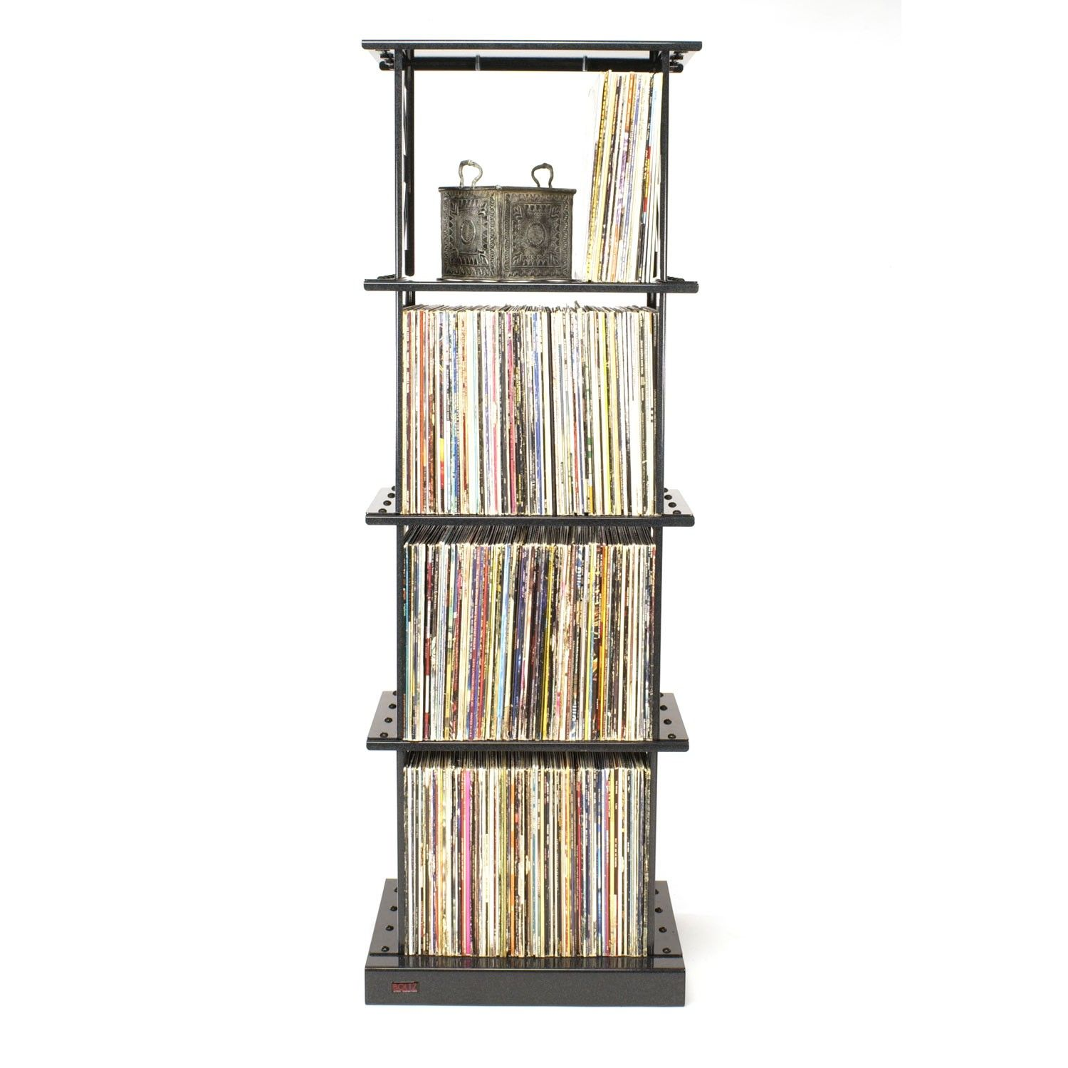 Steel LP Album Storage Rack (Designs From 1 To 4 Shelves) By Boltz Furniture
