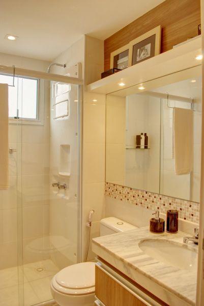 Legal as pastilhas embaixo do espelho  Banheiro  Pinterest  Bonito, Ban -> Banheiro Com Pastilha Embaixo Do Espelho