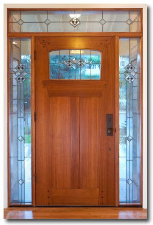 crafstman stained glass exterior door | Entry Doors with Glass ...