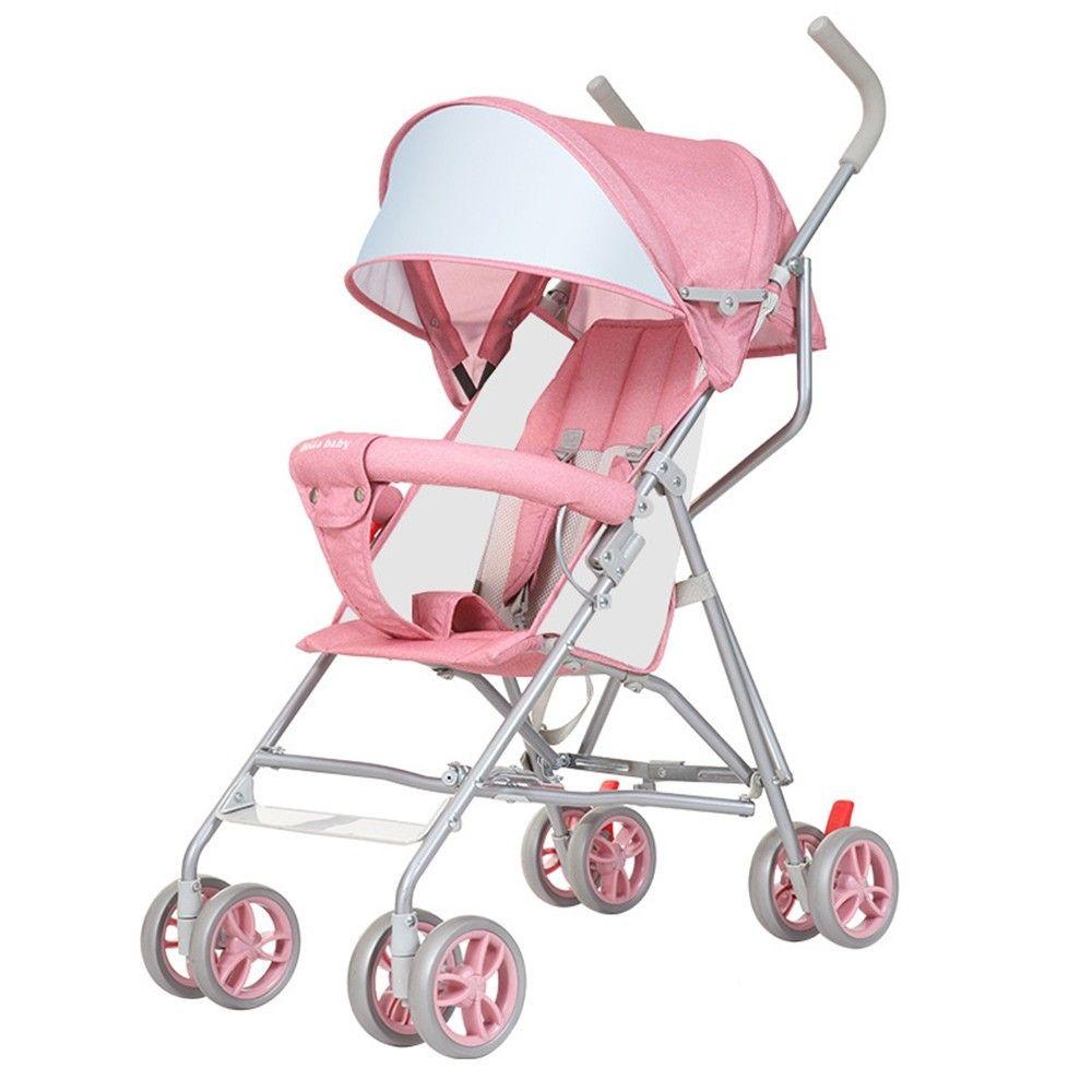 Shockproof Folding Baby Stroller Cart Pink 3A43041713