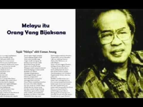 Usman Awang Melayu Sajak Bahasa Belajar