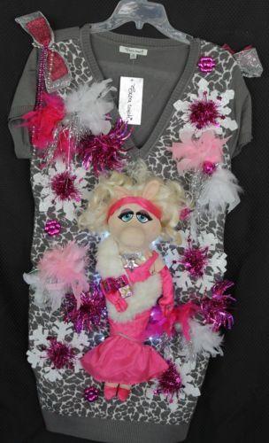 Deb Rottum S Ugly Christmas Sweater Dress Women Size 2x Lights Miss