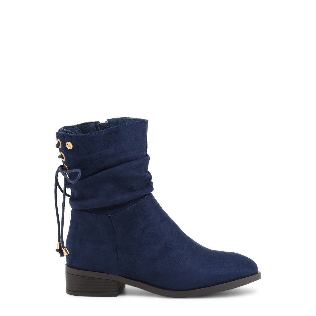 17cfe370062b Xti Blue Round Toe Ankle Boots